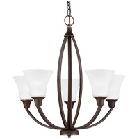 Metcalf 5 Light 26 inch Autumn Bronze Chandelier Ceiling Light in Fluorescent