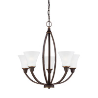 Metcalf 5 Light 26 inch Autumn Bronze Chandelier Ceiling Light