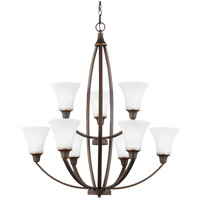 Metcalf 9 Light 31 inch Autumn Bronze Chandelier Ceiling Light in Fluorescent