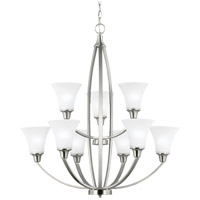 Metcalf 9 Light 31 inch Brushed Nickel Chandelier Ceiling Light in Fluorescent