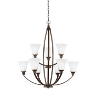 Metcalf 9 Light 31 inch Autumn Bronze Chandelier Ceiling Light