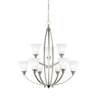 Metcalf 9 Light 31 inch Brushed Nickel Chandelier Ceiling Light