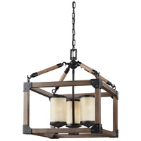 Sea Gull 3113303EN3-846 Dunning 3 Light 17 inch Stardust Chandelier Ceiling Light
