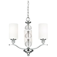 Sea Gull 3113403BLE-05 Englehorn 3 Light 20 inch Chrome / Optic Crystal Chandelier Single-Tier Ceiling Light in Fluorescent photo thumbnail