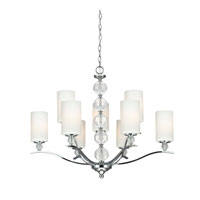 Sea Gull 3113409-05 Englehorn 9 Light 32 inch Chrome / Optic Crystal Chandelier Multi-Tier Ceiling Light in Standard