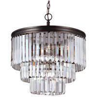 Sea Gull Carondelet 4 Light Chandelier in Burnt Sienna 3114004BLE-710