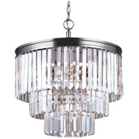 Carondelet 4 Light 18 inch Antique Brushed Nickel Chandelier Ceiling Light in Fluorescent
