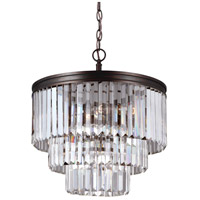 Sea Gull 3114004EN3-710 Carondelet 4 Light 18 inch Burnt Sienna Chandelier Ceiling Light