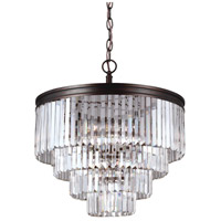 Sea Gull 3114006EN3-710 Carondelet 6 Light 24 inch Burnt Sienna Chandelier Ceiling Light