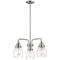 Belton 3 Light 20 inch Brushed Nickel Chandelier Ceiling Light