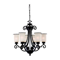 Acadia 6 Light 26 inch Misted Bronze Chandelier Ceiling Light in Standard