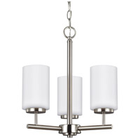Oslo 3 Light 15 inch Brushed Nickel Chandelier Ceiling Light