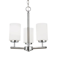 Sea Gull 31160EN3-05 Oslo 3 Light 15 inch Chrome Chandelier Ceiling Light