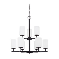 Sea Gull 31162EN3-839 Oslo 9 Light 26 inch Blacksmith Chandelier Ceiling Light