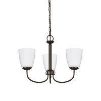 Sea Gull 3116603EN3-782 Bannock 3 Light 20 inch Heirloom Bronze Chandelier Ceiling Light