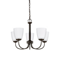 Sea Gull 3116605EN3-782 Bannock 5 Light 22 inch Heirloom Bronze Chandelier Ceiling Light