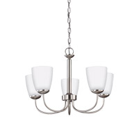 Bannock 5 Light 22 inch Brushed Nickel Chandelier Ceiling Light