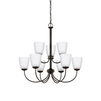 Sea Gull 3116609EN3-782 Bannock 9 Light 28 inch Heirloom Bronze Chandelier Ceiling Light