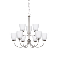 Bannock 9 Light 28 inch Brushed Nickel Chandelier Ceiling Light