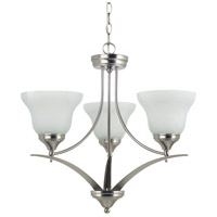 Sea Gull Lighting Brockton 3 Light Chandelier in Brushed Nickel 31173-962