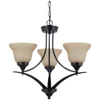 Sea Gull Lighting Brockton Fluorescent 3 Light Chandelier in Burnt Sienna 31173BLE-710