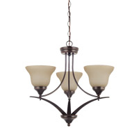 Brockton 3 Light 23 inch Burnt Sienna Chandelier Ceiling Light