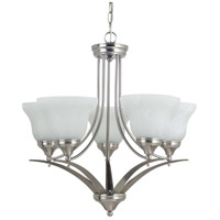 Brockton 5 Light 25 inch Brushed Nickel Chandelier Ceiling Light in Fluorescent