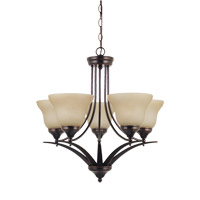 Brockton 5 Light 25 inch Burnt Sienna Chandelier Ceiling Light