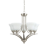 Brockton 5 Light 25 inch Brushed Nickel Chandelier Ceiling Light
