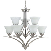 Sea Gull Lighting Brockton Fluorescent 9 Light Chandelier in Brushed Nickel 31175BLE-962