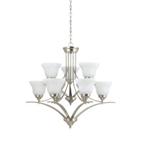 Brockton 9 Light 33 inch Brushed Nickel Chandelier Ceiling Light