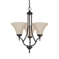 Montreal 3 Light 19 inch Burnt Sienna Chandelier Ceiling Light