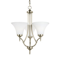 Montreal 3 Light 19 inch Antique Brushed Nickel Chandelier Ceiling Light