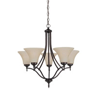 Montreal 5 Light 26 inch Burnt Sienna Chandelier Ceiling Light