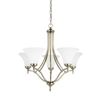 Montreal 5 Light 26 inch Antique Brushed Nickel Chandelier Ceiling Light