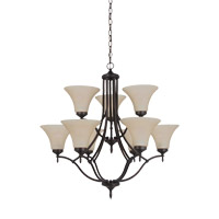 Montreal 9 Light 30 inch Burnt Sienna Chandelier Ceiling Light
