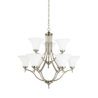 Montreal 9 Light 30 inch Antique Brushed Nickel Chandelier Ceiling Light