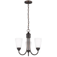 Sea Gull 3120203-710 Seville 3 Light 17 inch Burnt Sienna Chandelier Ceiling Light