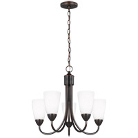 Sea Gull 3120205EN3-710 Seville 5 Light 21 inch Burnt Sienna Chandelier Ceiling Light