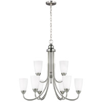 Seville 9 Light 29 inch Brushed Nickel Chandelier Ceiling Light