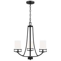 Sea Gull 3121603-112 Robie 3 Light 21 inch Midnight Black Chandelier Ceiling Light