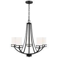 Sea Gull 3121605-112 Robie 5 Light 24 inch Midnight Black Chandelier Ceiling Light
