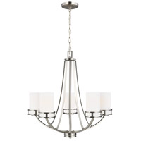 Sea Gull 3121605-962 Robie 5 Light 24 inch Brushed Nickel Chandelier Ceiling Light