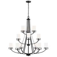 Sea Gull 3121612-112 Robie 12 Light 40 inch Midnight Black Chandelier Ceiling Light