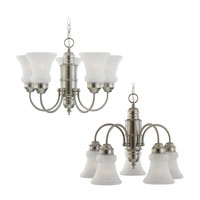 Sea Gull Lighting Evansville 5 Light Chandelier in Brushed Nickel 31226-962