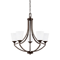 Sea Gull 3124505EN3-710 Hanford 5 Light 28 inch Burnt Sienna Chandelier Ceiling Light