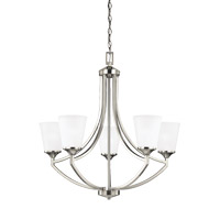 Sea Gull 3124505EN3-962 Hanford 5 Light 28 inch Brushed Nickel Chandelier Ceiling Light