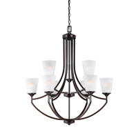 Hanford 9 Light 33 inch Burnt Sienna Chandelier Ceiling Light in Standard