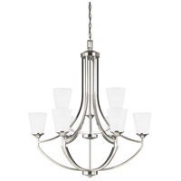 Hanford 9 Light 33 inch Brushed Nickel Chandelier Ceiling Light in Standard