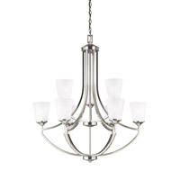 Hanford 9 Light 33 inch Brushed Nickel Chandelier Ceiling Light in Fluorescent